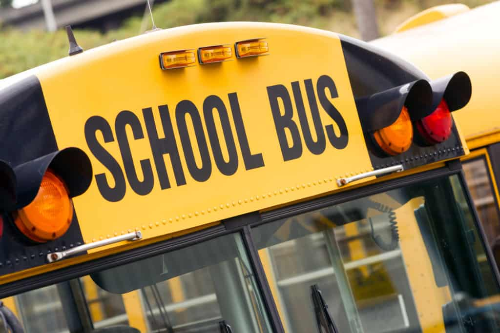 School Bus Involved in Crash near Van Buren Street and Corregidor Avenue [Indio, CA]