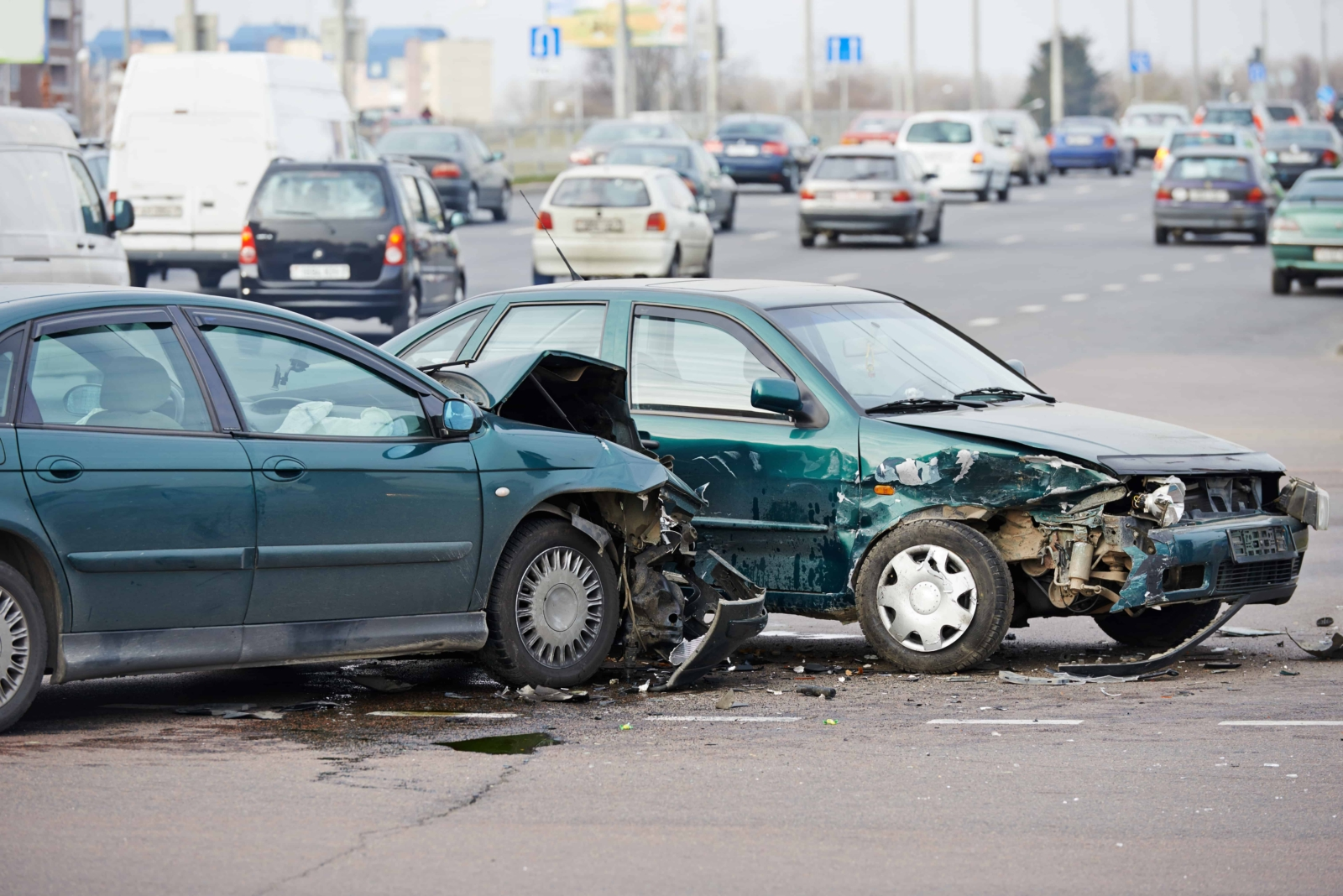 3 People Injured in Two-Vehicle Crash on Arrow Highway and La Verne Avenue [Pomona, CA]
