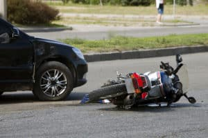 1 Hospitalized after Car and Motorcycle Crash near 15th Street and Walnut Street [Newhall, CA]